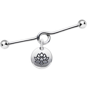 Handcrafted Floating Lotus Coiled Industrial Barbell