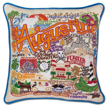 St. Augustine Hand Embroidered Pillow