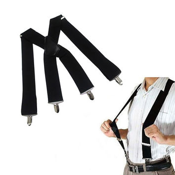 Newly Kids Bow Tie and Suspenders Set Girls Boys Suspender 3 Clips Y-Shape Elastic Braces Child Suspenders
