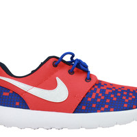 Nike Kid's Roshe Run One Print PS Crimson