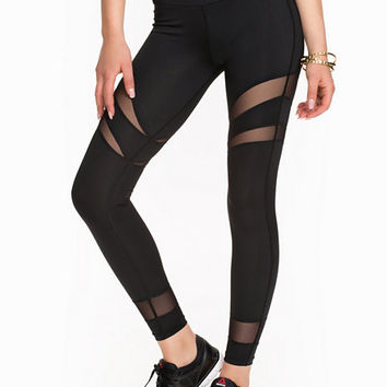 Mesh Stripe Tights, NLY SPORT