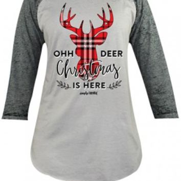 "Simply Faithful ""Oh Deer"" Tee - Grey"