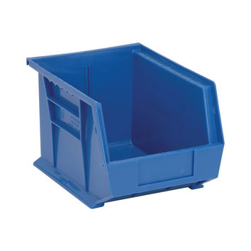 Quantum Storage Systems Ultra Stack And Hang Bin 10-3/4Lx 8-1/4Wx 7H - Blue Pack Of 6