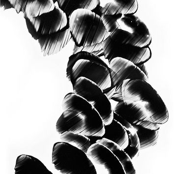 Black and White Painting BW Abstract Art Artwork High Contrast Depth Black Magic 259 Minimalism Minimalist Modern Contemporary Cummings