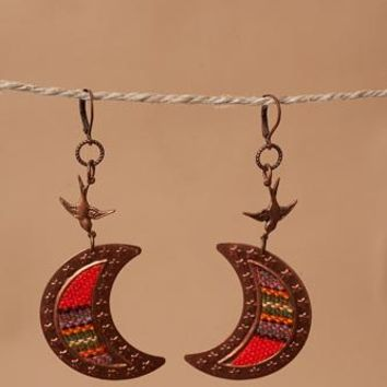 Serape Crescent Earrings