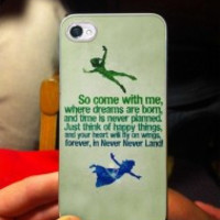 Peter Pan Quotes 2 iPhone Case And Samsung Galaxy Case