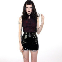 hella 90s.........Dragon CYBER Goth Sheer Mesh Asian Top