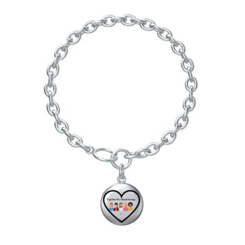 Together We Stand Strong Charm Bracelet