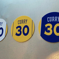 Stephen Curry Magnets - Golden State Warriors Jersey Design - 3 magnet set