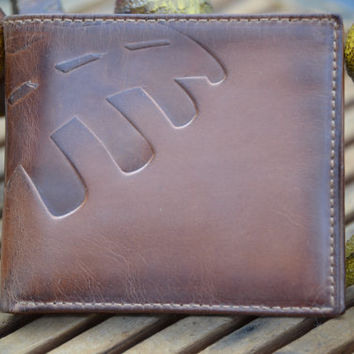 FOOTBALL Embossed Leather Bifold Wallet