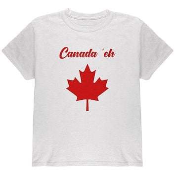Canada Day 'Eh Pun Red Youth T Shirt