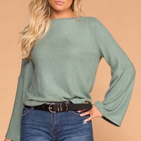 Sasha Sage Bell Sleeve Knit Sweater