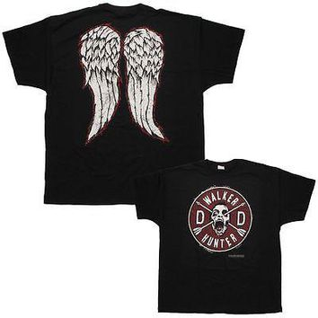 WALKING DEAD WALKER HUNTER DARYL WITH WINGS 2-SIDED Adult T-Shirt S-XL