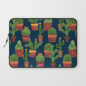 Terra Cotta Cacti Laptop Sleeve by Noonday Design