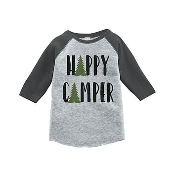 Custom Party Shop Unisex Happy Camper Outdoors Raglan Tee