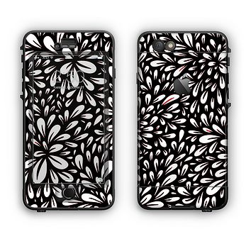 The Black Floral Sprout Apple iPhone 6 Plus LifeProof Nuud Case Skin Set