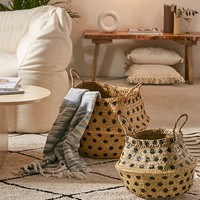 Polka Dot Wicker Basket - Set Of 2 | Urban Outfitters