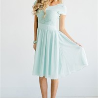 Mint Lace Isabel Modest Dress by Mikarose | Trendy Modest Dresses | Mikarose Spring 2014 Collection