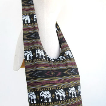 Hill Tribe Shoulder Bag Boho Hippie CrossBody Messenger Elephant Travel Bag