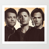 SUPERNATURAL Art Print by Hands in the Sky