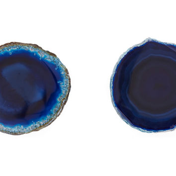 Agate Knobs, Blue, Set of 2, Cabinet & Drawer Knobs