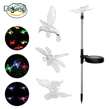 Colorful Solar LED Lawn Garden Lights Butterfly / Dragonfly / Hummingbird(All 3) Garden Stakes