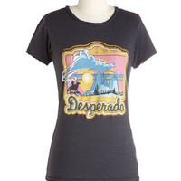 ModCloth Vintage Inspired Mid-length Short Sleeves Wild, Wild Best Tee