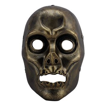 Resin Death Eater Harry Potter Scary Mask MascaraTerror Masquerade Halloween Prop Collection MaskCosplay Props Fancy Costumes