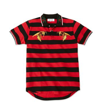 Serf Polo - Black/Red