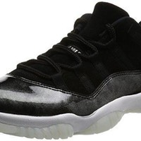 Air Jordan 11 Retro Low Barons xi Men Lifestyle Sneakers New Black