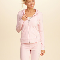 Girls Zip Up Velour Hoodie | Girls New Arrivals | HollisterCo.com