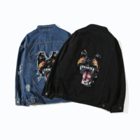 Givenchy Fashion Denim Cardigan Jacket Coat