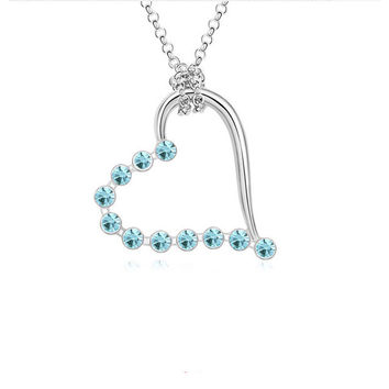 A Lover's Gift. Silver Heart Pendant Necklace from SheShopper.com