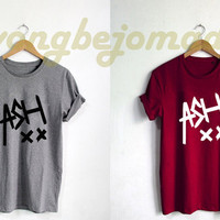 ASH Ashton Irwin Shirt Black Grey Maroon and White Color Unisex Tshirt