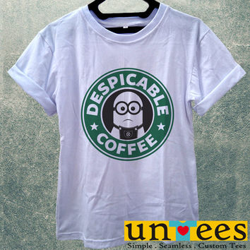 Low Price Women's Adult T-Shirt - Minion Starbuck Coffee Logo design