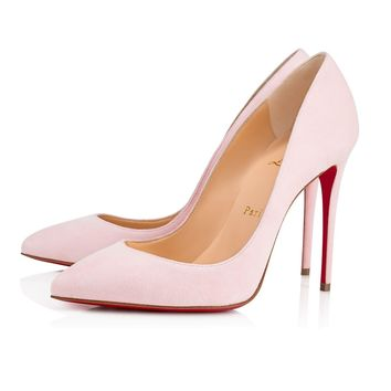 Christian Louboutin Cl Pigalle Follies Pompadour Suede 14w Pumps 3140596p224 - Best Online Sale