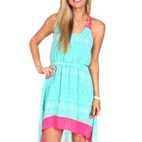 Sparks Fly Mint High Low Dress | Monday Dress Boutique