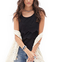 FOREVER 21 Tiered Lace Top