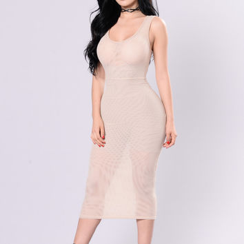 You See Me Now Dress - Nude