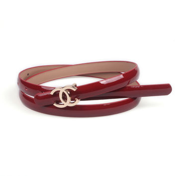 Double C Patent Leather Belt