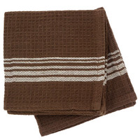 Bulk Chocolate Brown Cotton Dish Cloths with White Stripes, 2-ct. Packs at DollarTree.com