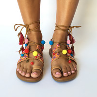 Made With Love Pom Pom Sandals