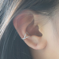 Crossed Wire Cuff Earring
