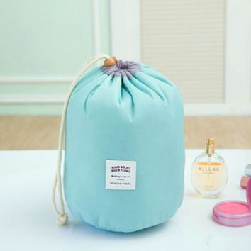 Organizers / Bags - Free Shipping - Cylindrical Waterproof Nylon Storage Bag - Sky Blue