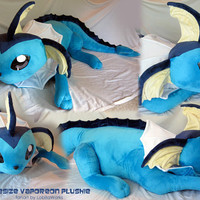 LIFESIZE Pokemon Vaporeon Plushie by LobitaWorks on Etsy
