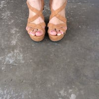 Cognac Joan Wedges