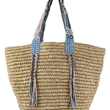 Straw Beach Bag - Fallon + Royce