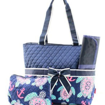 Turtle Diaper Bag - 2 Color Choices