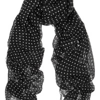Chan Luu - Polka-dot cashmere and silk-blend scarf