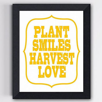 Children Wall Art Plant Smiles Harvest Love by TheWallaroo